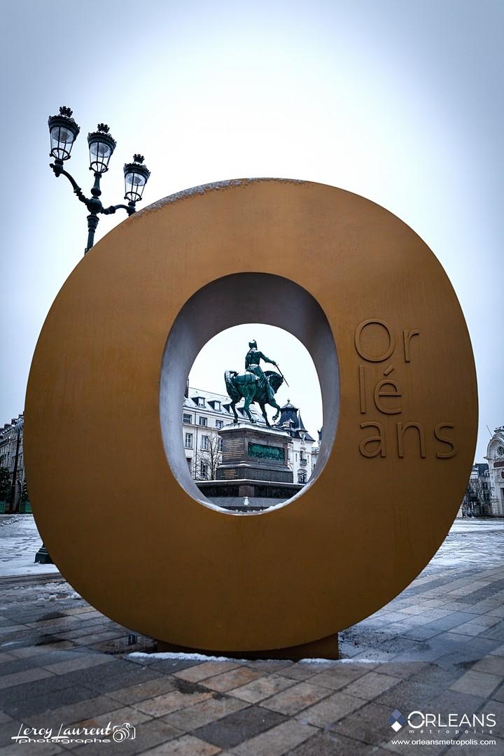 O d'Orléans avec vue sur Jeanne d'Arc