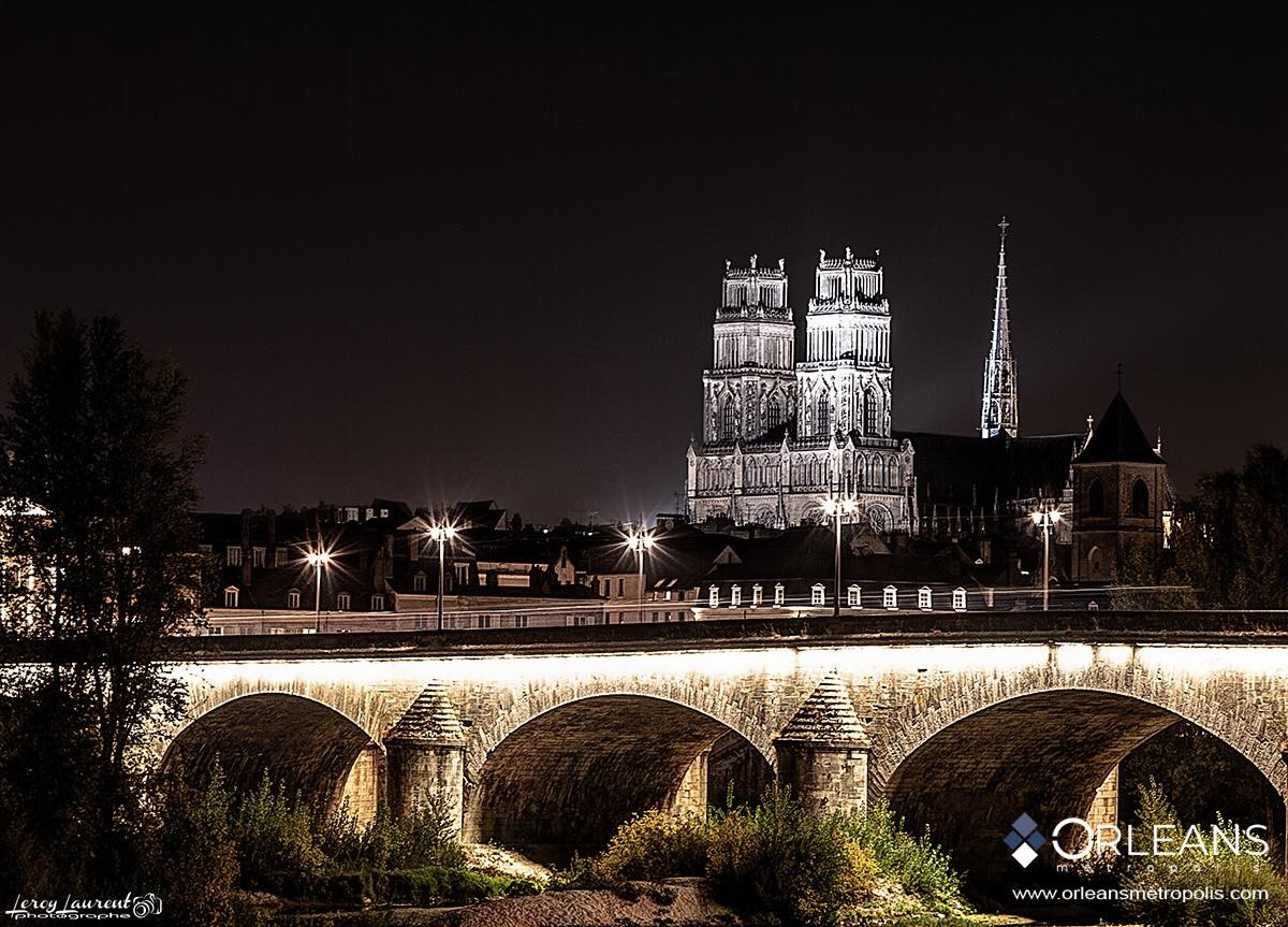 Cathédrale & Pont GEORGES 5 Orléans by Night
