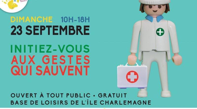 Sauv&Vous : apprenez les gestes qui sauvent sur l'Île Charlemagne le 23 septembre