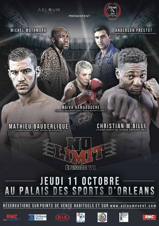 Combats de boxe  No Limit VI à Orléans