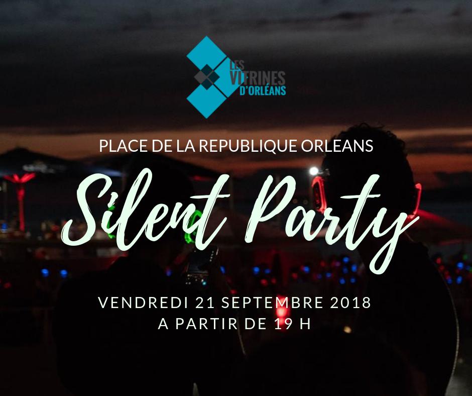 Ciel de parapluies et Silent Party place de la République à Orléans