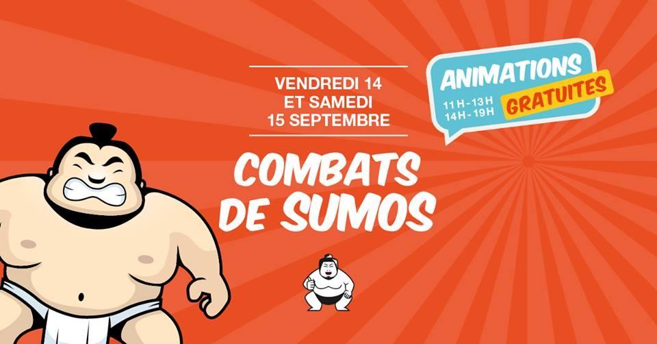 Combats de sumos au Centre Commercial Place d'Arc d'Orléans !