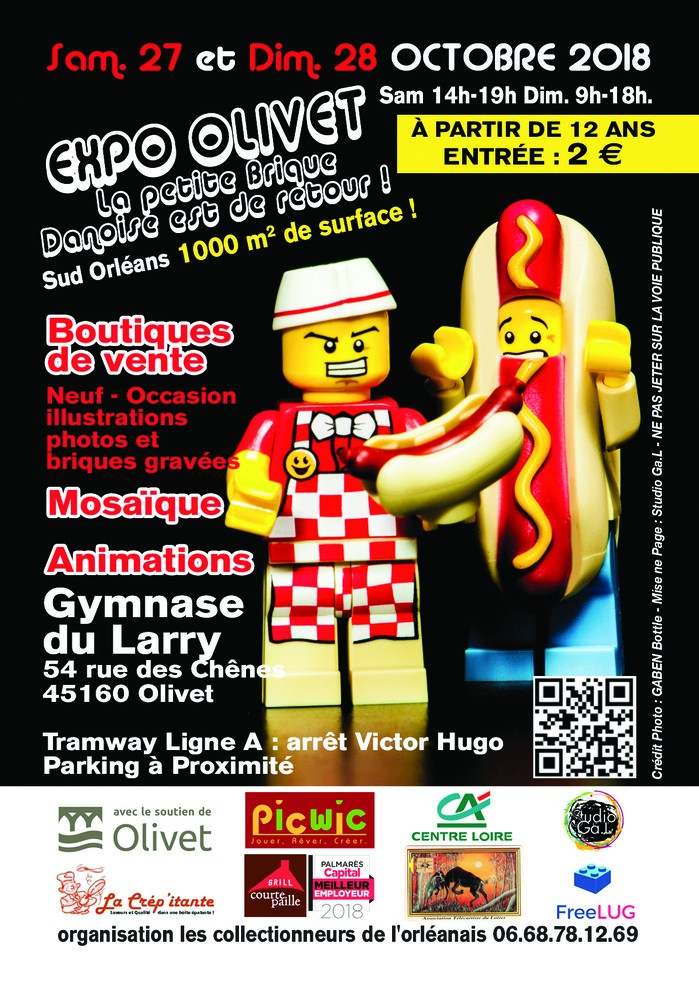 Expo Lego à Olivet: vente, animations, mosaïque