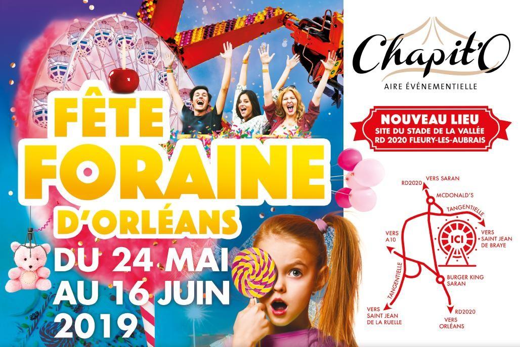 La fête foraine d'Orléans déménage à Fleury les Aubrais!