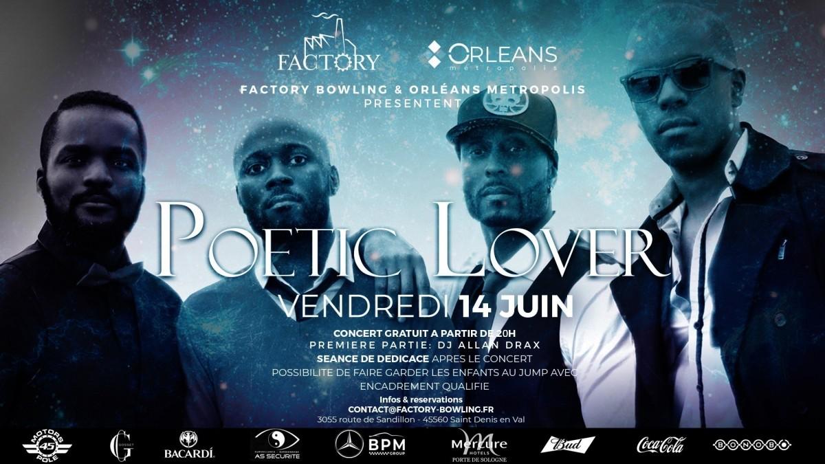 Poetic Lover en concert GRATUIT à Orléans